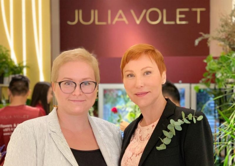 Flowers masterclass for Julia Volet team